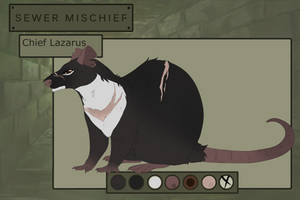 The-Pack-Rats: Chief Lazarus (Sewer Rat) by Pinky-Poodle