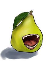 Biting Pear by snowbringer