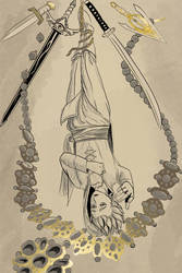 Erik as the Hanged Man by brea83