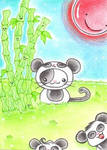 ACEO Kitty or Panda II by oOMetalbrideOo