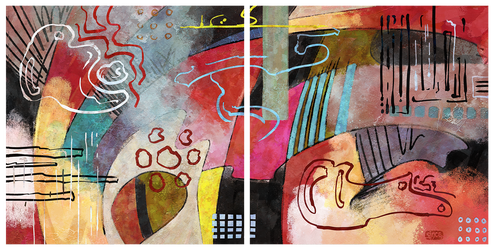 Diptych: Action With Red