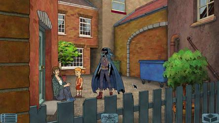 Crow-Girl game, early screenshot