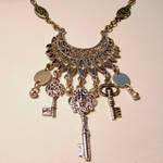 Skeleton Key Dancers Necklace