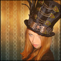Manical Mad Hatter Top Hat by SteamSociety