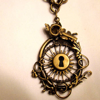 Steampunk Sunshine Necklace by SteamSociety