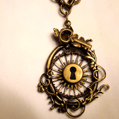 Steampunk sunshine necklace by steamsociety on deviantart steampunk sunshine necklace by steamsociety aloadofball Images