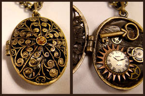 Dragon's Egg Steampunk Locket by SteamSociety