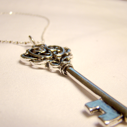 Victorian Skeleton Key Pendant By SteamSociety