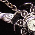 Flying Pocketwatch Necklace