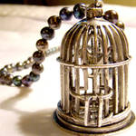 Storybook Birdcage Necklace