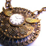 Clockwork Gears Tesla Necklace