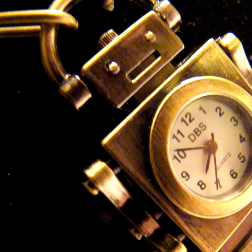 Retro Robot Clockwork Necklace by SteamSociety