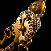 Kuchi Steampunk Gears Necklace by SteamSociety