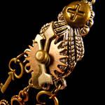 Kuchi Steampunk Gears Necklace