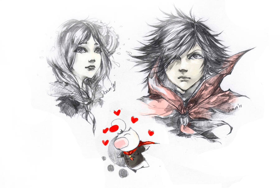 FF TYPE-0 sketchpage by soanvalentine