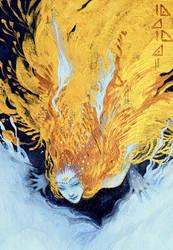 Gold bird by soanvalentine