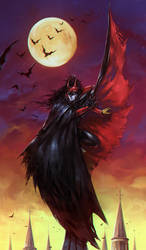 Red Batman by soanvalentine