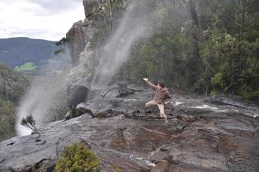 Defying the Waterfall by Raniformis