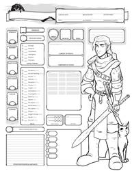Elf Fighter Character Sheet by Farstride