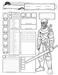 Half Drow Character Sheet by Farstride