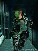 Lara Croft 47 by legendg85