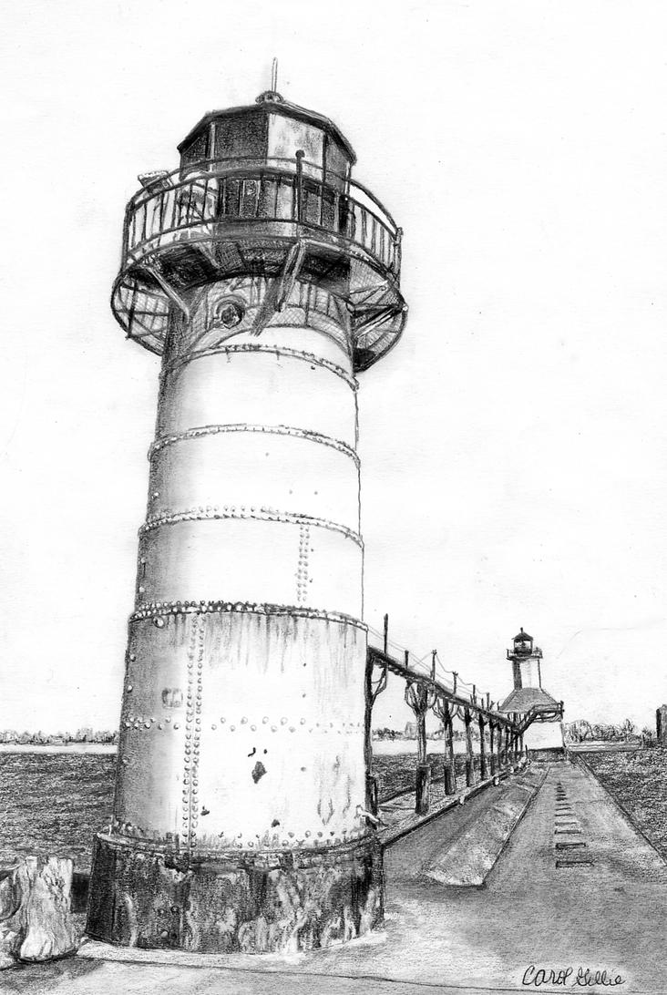 Line Drawing Lighthouse : St joseph mi usa lighthouses by joilieder on deviantart
