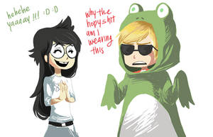 jade likes dave and frogs