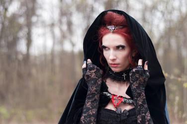 Vampiress Portrait by ann-emerald-stock