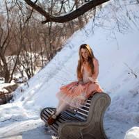 Girl Sitting by ann-emerald-stock