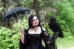 Gothic Girl With Raven