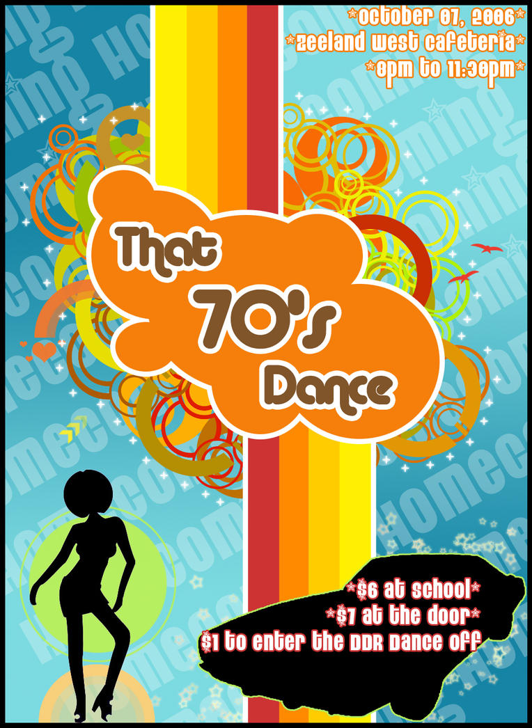 Finest 70's Dance Poster by vompy on DeviantArt BW01