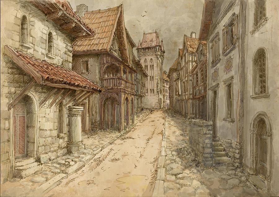Medieval town by Hetman80