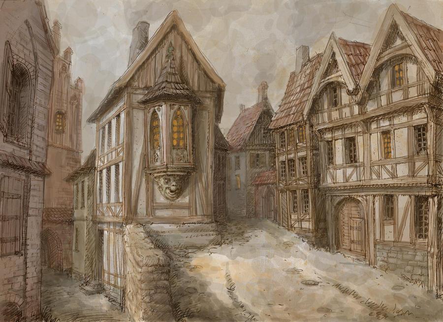 Medieval city medieval town 2 by hetman80