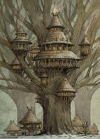 Tree village by Hetman80