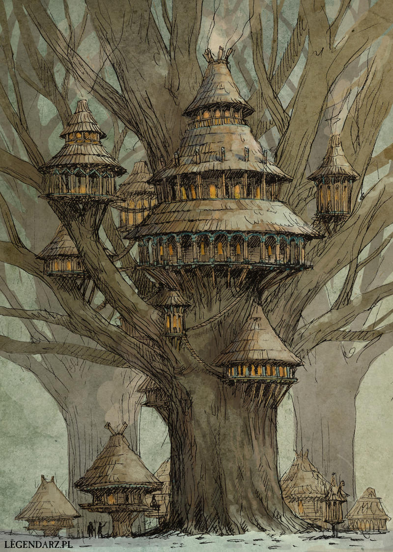 Tree village by Hetman80