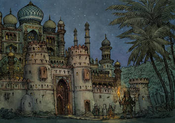 Medieval arabic city - the Palace