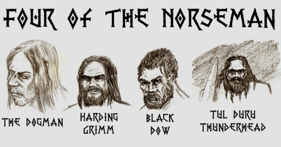 four of Abercrombie's norseman by Shastern