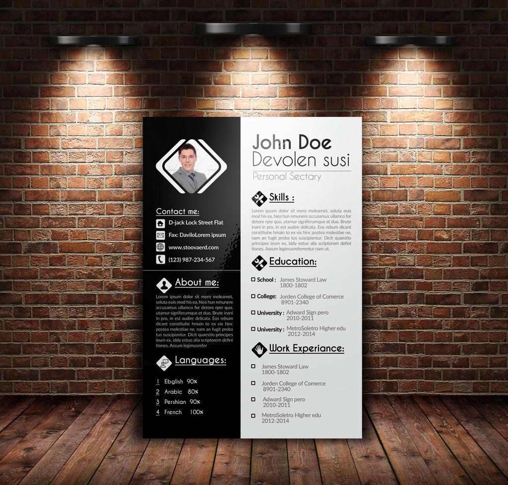 resume cv cover letter portfolio by designhub719 on deviantart