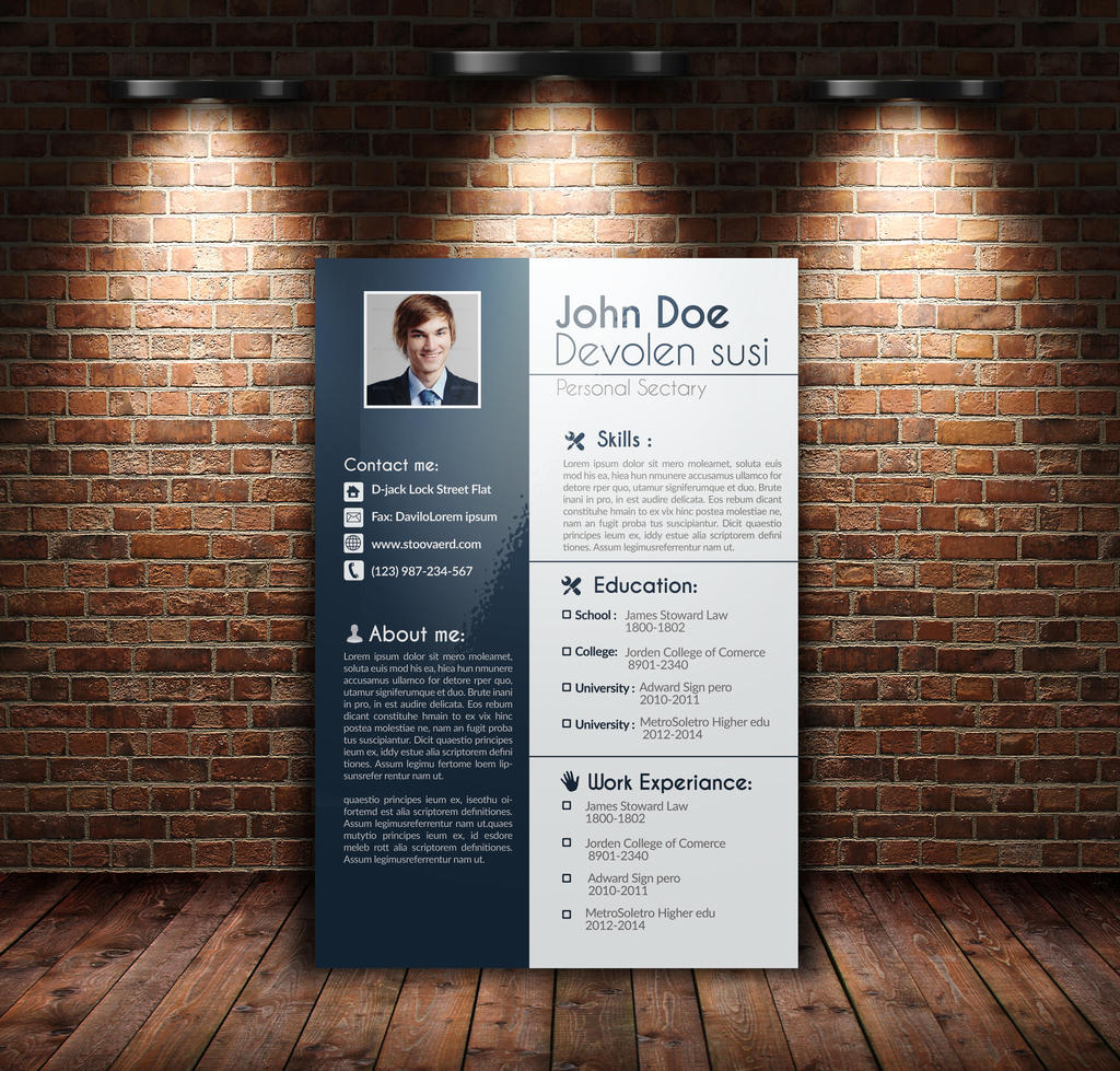 job resume cv cover letter portfolio by designhub719