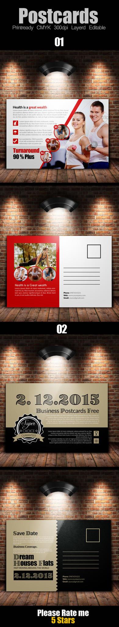 Multi Use Business Post Cards Bundle by Designhub719