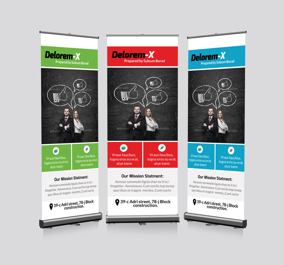 business roll up banners template by designhub719 on. Black Bedroom Furniture Sets. Home Design Ideas