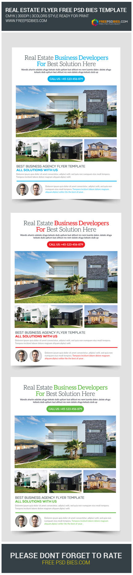 Real estate open house flyers free psd template by for Real estate brochure templates psd free download