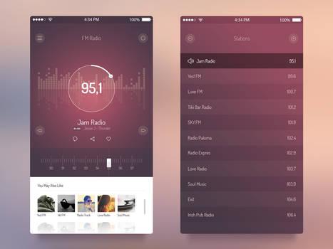 Free FM Radio App. PSD Template