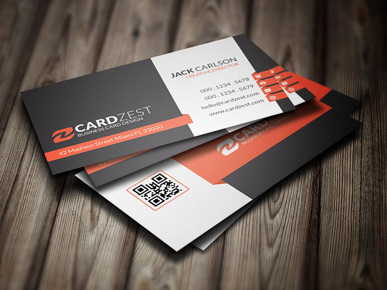 professional business card template free psd by designhub719