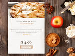 Apple-pie-widgetFree Bakery Widget PSD Template