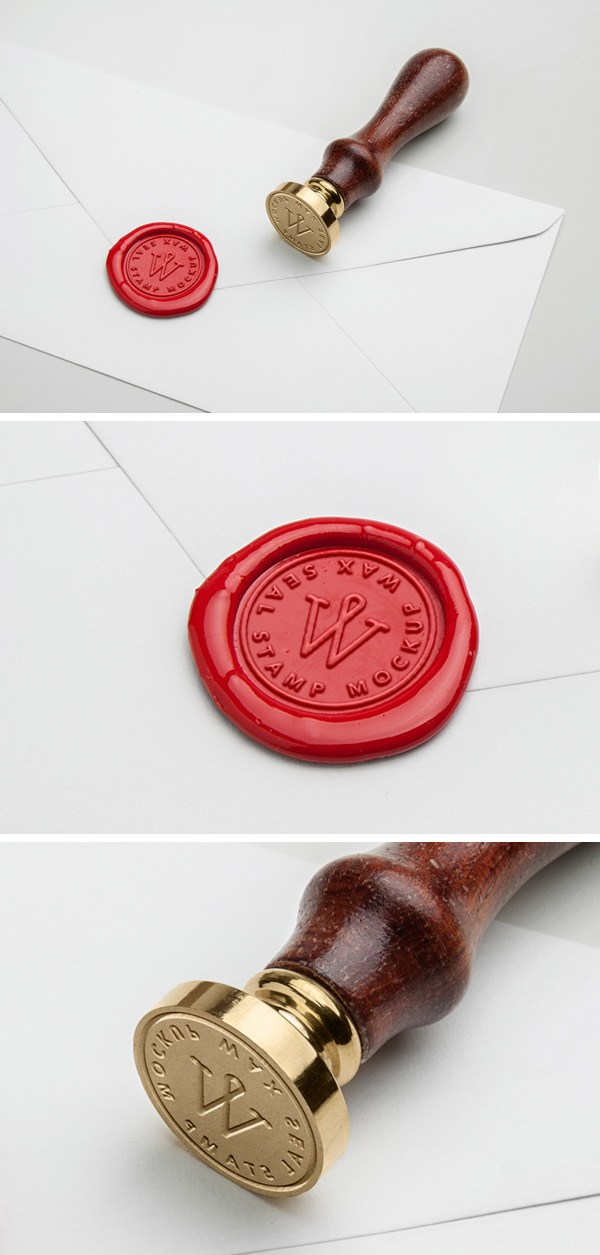 Free Psd of Wax Seal Stamp PSD Mock Up by Designhub719