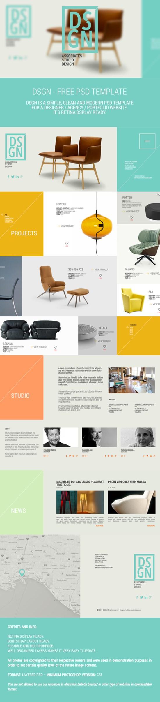 Free PSD Website Theme Template by Designhub719