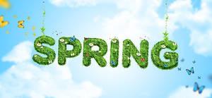 Sky blue Fabulous Spring Background PSD  Spring_Ba