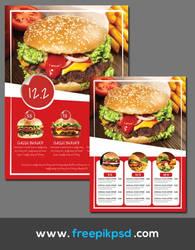 Free Best Burger Menu Psd Template
