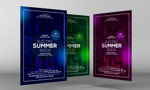 Free Summer Party Flyer PSD Template by Designhub719